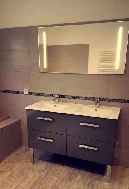 meuble de salle de bain anthracite